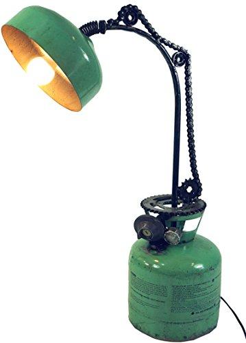 Guru-Shop Stehlampe/Stehleuchte, Industrial Style, Upcycling Lichtobjekt aus Altmetall - Modell Alang, 80x50x24 cm, Stehlampen Metall & Industrial Style