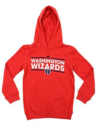 adidas Sudadera con capucha de forro polar de la NBA Big Boys Youth (8-18), opciones del equipo, Atlético, 10-12, Washington Wizards