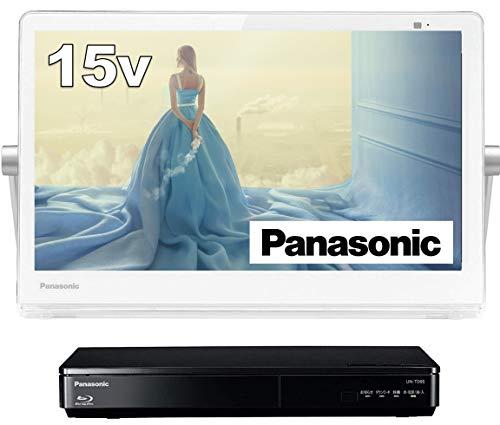 パナソニック15V型ポータブル液晶テレビインターネット動画対応プライベート・ビエラ防水タイプ500GBHDD録画/ブルーレイ再生機能付きホワイトUN-15TD9-W