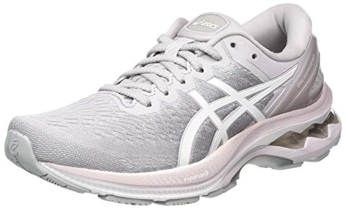 ASICS Women's Gel-Kayano 27 Running Shoe, Haze White, 3.5 UK