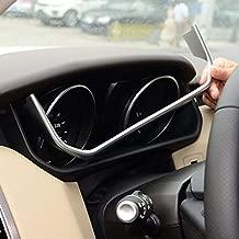 For Land Rover Range Rover Sport 2014-2018, ABS Chrome Plastic Car Dashboard U Shape Decoration Frame Trim Cover Accessories matte silver