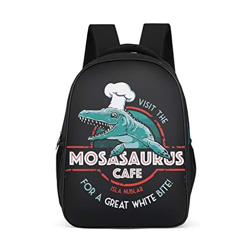 Zhenxinganghu Bezoek de Mosasaurus Cafe Mode Vrije tijd Work Compute r Rugzak Anti-diefstal Waterdicht voor 15 mannen vrouwen