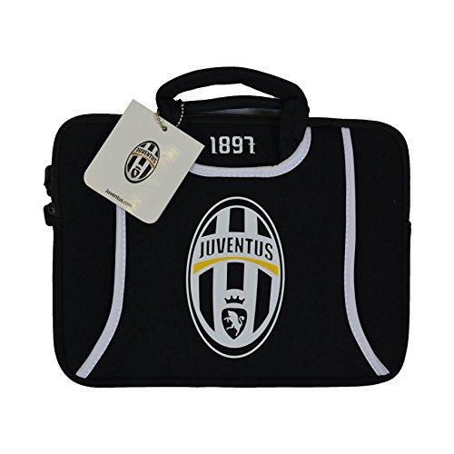 "Techmade Borsa per Netbook/Notebook 10"", Juventus, Bianco/Nero"