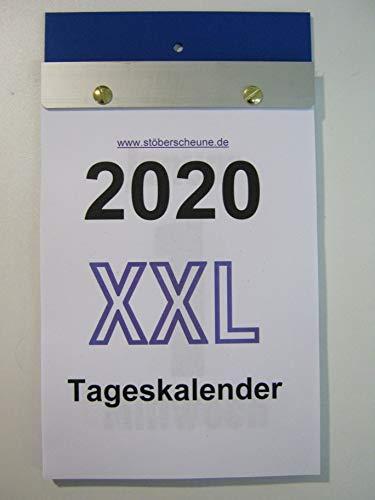 Tageskalender XXL Großdruck DIN A 5 2020 ca 25 x 14,5 cm