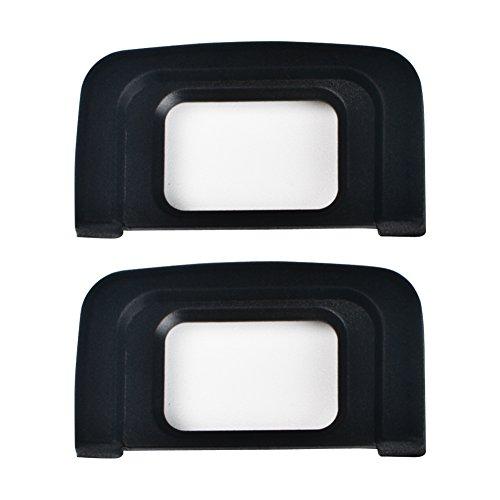 VKO Eyepiece/Eyecup DK25 Replacement for Nikon D5600 D5500 D3500 D3400 D3300 D3200 D3100 D3000 D5300 D5200 D5100 D5000 DSLR Camera Viewfinder(2 Pack)