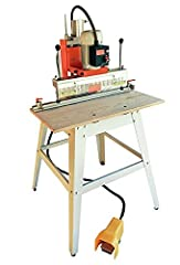"""Number of spindles on boring head: 13 (6L & 7R) Motor: 1 HP, 110V/ single phase, 110V Spindle Rotation: 3400 rpm Table size: 30x16 - 3/4T. Floor to table height: 34"""" Maximum stroke: 3 1/2"""" Maximum throat: 3 1/2"""" Distance between spindle centers: 32mm..."""