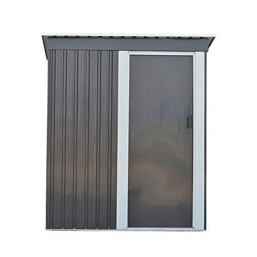Panana Metal 3x5' Steel Sheds Outdoor Garden Tools Storage Shed(No Base (3x5')