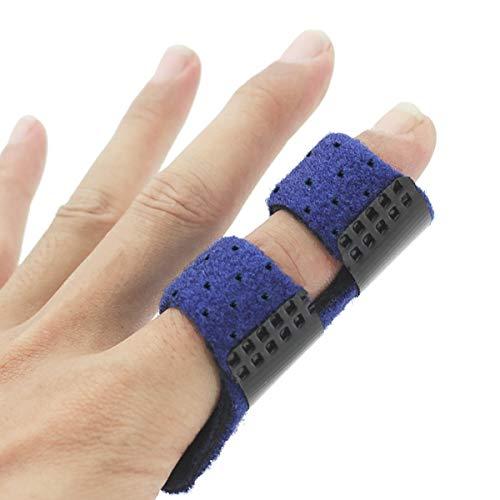 Finger Splint, Luniquz Trigger Finger Brace for Mallet Index Ring Middle, L/Blue