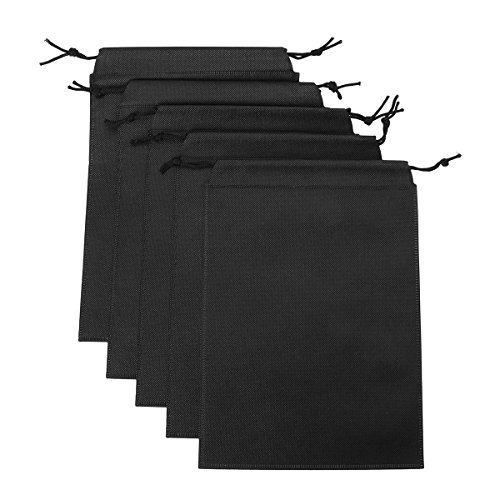 FEESHOW Large Size Adult Game Toys Lint Drawstring Storage Bag- Light weight Black 5PCS one size