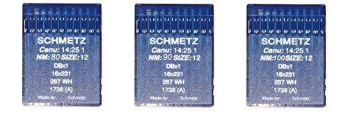 Agujas Schmetz maquinas de coser 1738 industriales DBx1 redondas ORIGINALES (3kit)