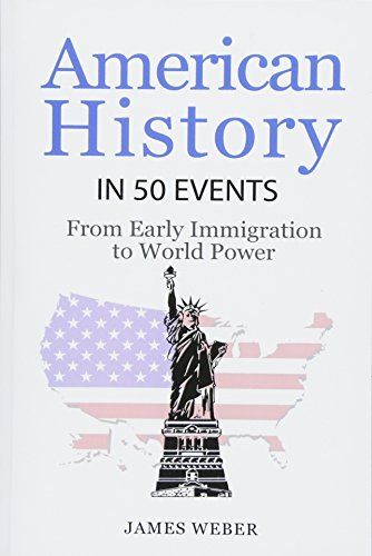 History: American History in 50 Events: From First Immigration to World Power (US History, History Books, USA History) (History in 50 Events Series) (Volume 2)