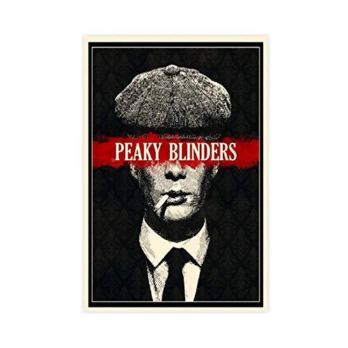 Póster de la serie de TV Peaky Blinders 6 lienzos para decoración de pared de 30 x 45 cm, estilo Unframe-1