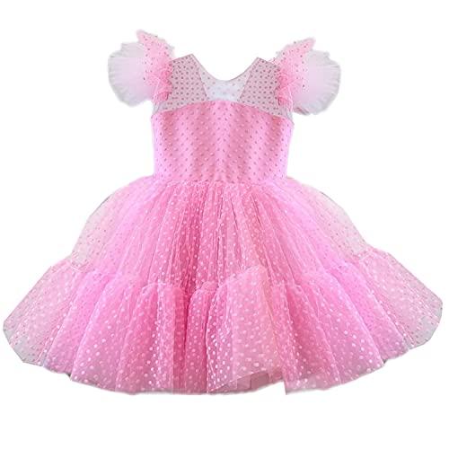 NNJXD Flor Niña Vestido de Boda Princesa Lunares Vestido del Desfile Talla...