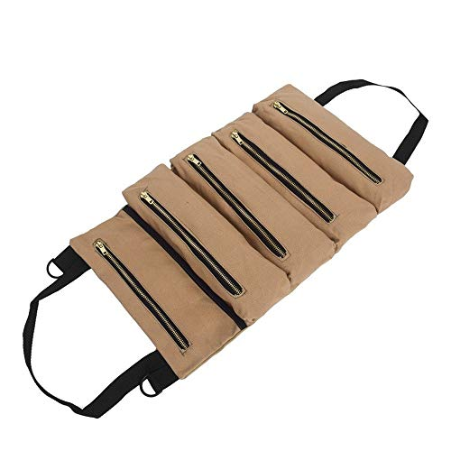 1 Pcs Small Gardening Potted Tools, Auto Repair Power Storage Bags Are Sorted, Easy To Carry, Can Be Hung on The Wall, Doors, Windows, or Car Backrests (Khaki)