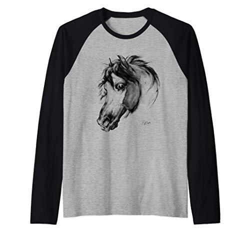 Amantes de los caballos Amantes de la equitación de época Camiseta Manga Raglan