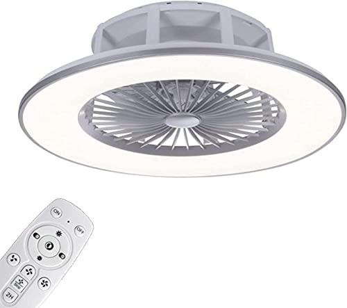 Techo Ventilador con Encendiendo y Control Remoto LED Regulable Luces de Techo con Bluetooth Vocero Música Tranquilo Ventilador Lámpara de Techo Cuarto Sala Decorativo Encendiendo NO.5