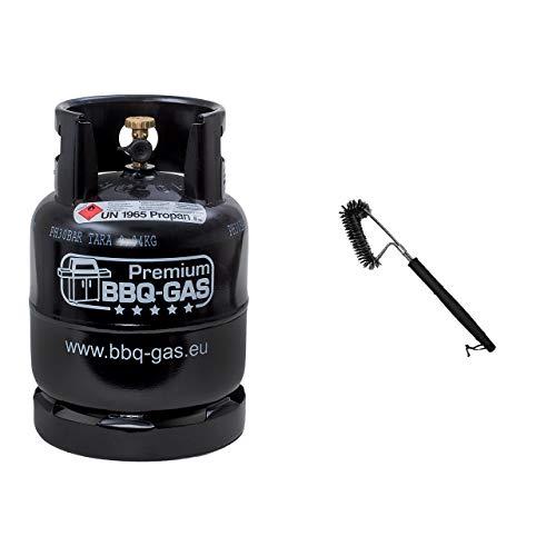 CAGOGAS 8 kg BBQ Gas-Flasche Grillgas inklusive BBQ Grill- und Reinigungsbürste für Gasgrill sowie Holzkohlegrill