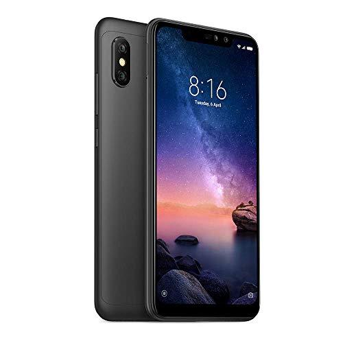 Xiaomi Redmi Note 6 Pro 64GB + 4GB RAM 6.26in Dual Camera LTE Factory Unlocked Smartphone - Global Version (Black) (Renewed)