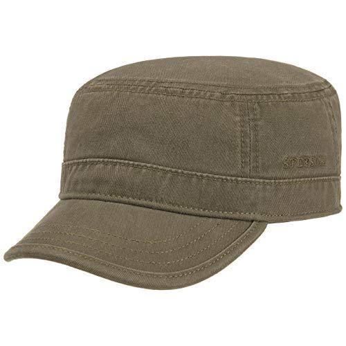 Stetson Gosper Army Cap Damen/Herren - Urban Armycap aus Baumwolle - Militärcap mit UV-Schutz 40 - Mütze Militär Sommer/Winter Oliv M (56-57 cm)