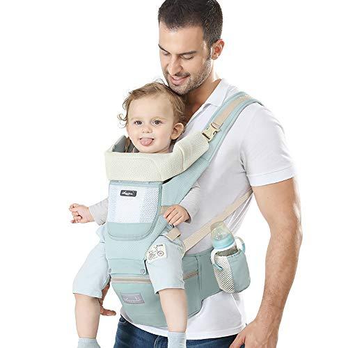DYB Mochila portabebé Transpirable Premium,Ergonómica,para recién Nacidos y bebés(3-48 Meses),Carga máxima 20 kg,Soporte para la Cabeza,Múltiples Posiciones