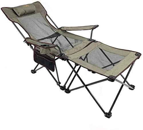 Woodtree Playa Silla reclinable Plegable, Silla de Camping portátil - Silla Portable de la Pesca del Respaldo for al Aire Libre, Campo, Picnic, Senderismo