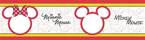 1art1 Micky Maus - Mickey & Minnie Mouse Silhouettes Bordüre Tapeten-Borte Selbstklebend 500 x 14 cm