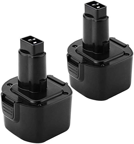 Bonacell PS120 9.6V 2Pack NI-MH Battery Replacement for Dewalt DW9062 DW9061 DW926 DC750KA DW955K DW955 DW926K-2 DW926K DW902 DW050 DE9062 DE9061 DE9036 DW955K-2 DW050K Black & Decker PS120 PS3200
