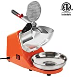 VIVOHOME Electric Ice Crusher Shaver Snow Cone Maker Machine Orange 143lbs/hr for Home and...