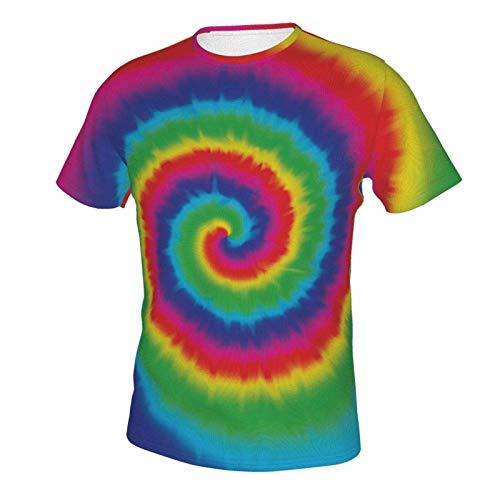 Short Sleeve Shirt Tops for Men Boys Teens Adult, Regular Big and Tall Sizes Tie Dye L