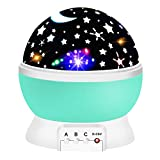 Night Light for Kids, ATOPDREAM Night Light Projector for Kids Xmas Gifts for 2-10 Year Old Girls Cool Toys for Boys Age 2-10 Christmas Gifts for Girls Age 2-10 Stocking Fillers Cyan TSUSXK08