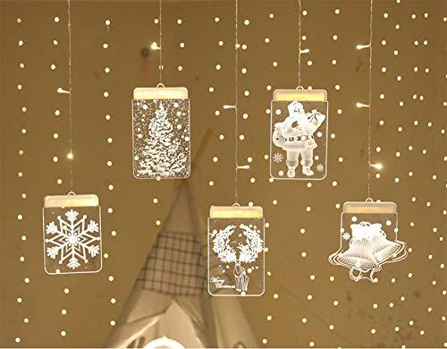 HUAQINEI String Light Hanging Lights LED 3D USB Powered Energy Saving Christmas Decoration Lights For Shop Windows Room Decoration Festive Lights