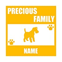 ForzaGroup 全犬種 全猫種対応 ウェルシュテリア2 (137-13) 犬 イヌ 車 ステッカー 名前入れ