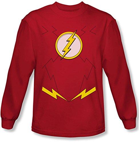 JLA–Disfraz de nuevo Flash camiseta de manga larga Hombre
