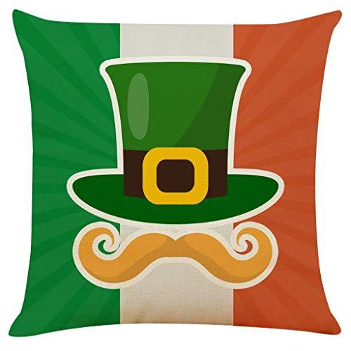 Spring St. Patrick's Day Throw Pillow- Pulgadas Spring Color Farmhouse Sofá Almohada Funda de cojín