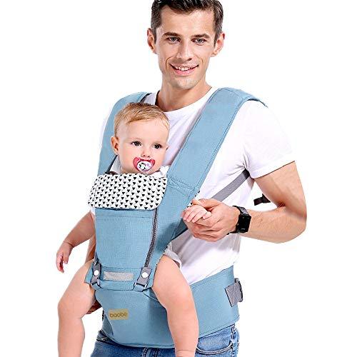Arkmiido Babytrage ergonomisch mit hüftsitz,verstellbar für Neugeborene & Kleinkinder ,Kindertrage Rückentrage Hüfttrage für alle Jahreszeite träge (Blau)