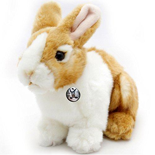 Häschen URMEL Hase Bunny Kaninchen gelb-weiß 19 cm Plüschtier von kuscheltiere.biz