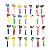 JZK 20 x Silbatos de soplado Juguetes de Fiesta Rellenar piñatas favores Boda Bolsas Regalo para cumpleaños Navidad Halloween para niñas niños Infantiles