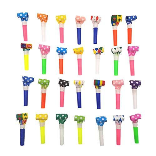 JZK® 20 x Trombette colorate per feste carnevale, bomboniere regalini per festa compleanno accessori feste bambini