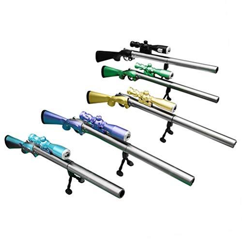"""Kagodri Penna per fucile da cecchino """"Eat Chicken"""", penna gel luminosa a forma di pistola, colore casuale regalo anniversario"""