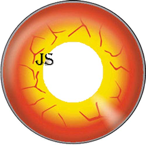 Matlens – JS Crazy Fun Motiv Halloween Farbige Kontaktlinsen orange DARTH MAUL 2 Linsen 1 Kontaktlinsenbehälter 1 Pflegemittel 50ml FBA