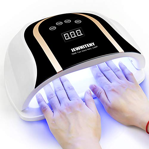 120W UV LED Nail Lamp, Faster Nail Dryer for Gel Polish with 4 Timer Setting, Professional Gel UV Light for Two Hand Curing Lamp with 54 Pcs Light Bead Auto Sensor Nail Machine