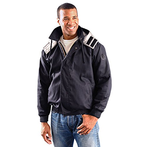 OccuNomix FR-JB-NXL Premium Flame Resistant Bomber Jacket, Class 3, 100% Cotton Twill, X-Large, Navy