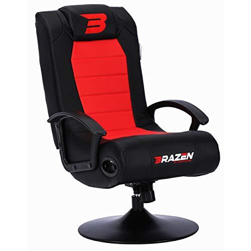 BraZen Stag 2.1 Bluetooth Surround Sound Gaming Chair - Red/Black