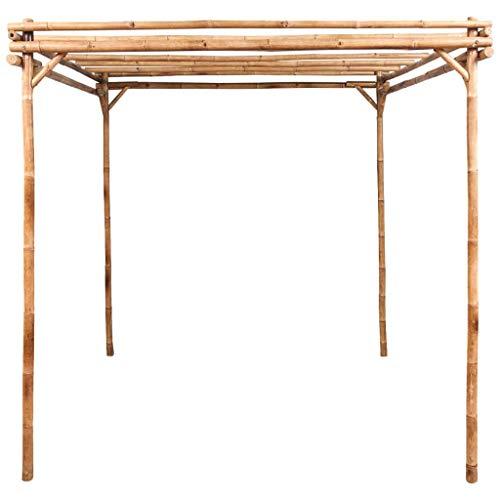 Ausla Rosenbogen Bambus, Pflanzenregal Gartenpflanzenregal, Klettergerüst für Bambuspflanzen, 170 x 170 x 220 cm, enthält Zubehör