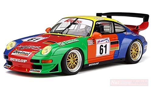 GT Spirit GT754 Porsche 993 GT2 N.61 LM 1998 1:18 MODELLINO Die Cast Model Compatible con