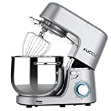 Stand Mixer,Kuccu 660W 6 Speeds Tilt-Head Food Dough Mixer with 8 Qt Stainless Steel Bowl, Electric Kitchen...