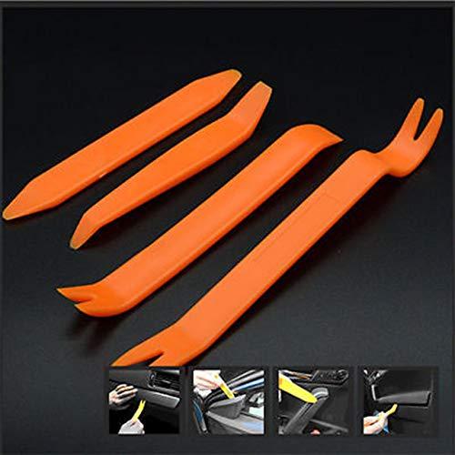 jingshou396 Werkzeuge zum Entfernen der Autoverkleidung 4-teilige Autotür Kunststoffverkleidung Clip Panel Dash Remover Pry Tool Kit ABS Orange