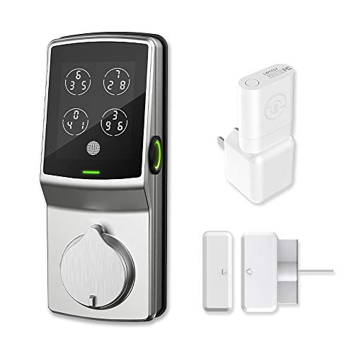 Lockly Secure Pro Xtra Deadbolt Edition | Bluetooth Fingerprint WiFi Keyless Entry Smart Door Lock (PGD 728WP) Patented Keypad | Frequent Users Recommended | iOS Android Compatible (Satin Nickel)