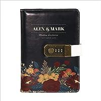 ペイントされた漫画のコードブック、ロック付きの日記ノート、厚みのある手帳のメモ帳、ギフトボックス、金属ペンセット、B