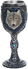 Pacific Giftware Lone Wolf Celtic Magic 7oz Wine Chalice Goblet
